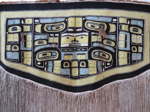 Chilkat Blanket on display at Fazakas Gallery